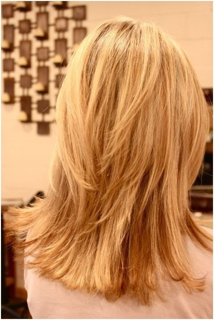 Choppy, Layered Hairstyles: Blunt Medium Haircut – Popular Haircuts Regarding Brown Blonde Layers Hairstyles (View 21 of 25)