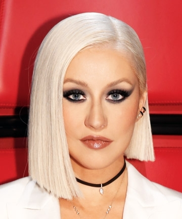 Christina Aguilera's Asymmetrical Platinum Bob, 9 Gorgeous Reasons Intended For Platinum Asymmetrical Blonde Hairstyles (View 4 of 25)