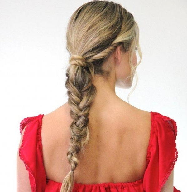 Chunky Low Fishtail Braid Ponytail Is Great For Long Thick Hair  … With Regard To Chunky Ponytail Fishtail Braid Hairstyles (View 17 of 25)