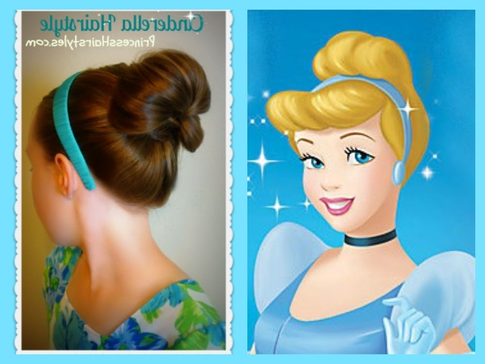 Cinderella Hairstyle Tutorial, Princess Hairstyles – Youtube For Princess Tie Ponytail Hairstyles (View 21 of 25)