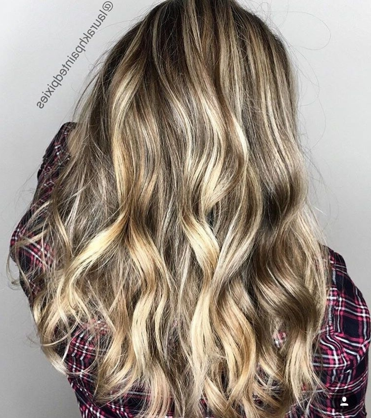 Classic Balayage Higlights. Long Blonde Hair Long Layer Cut (View 19 of 25)