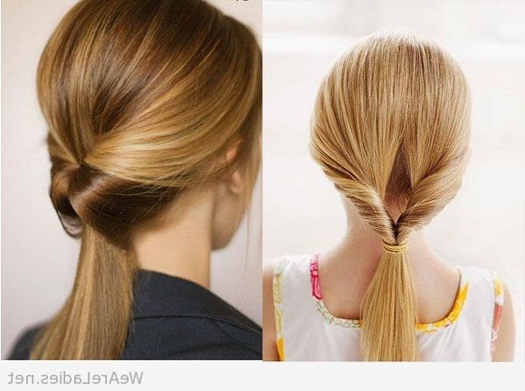 Classy Twisted Ponytails Pertaining To Twisted Pony Hairstyles (View 11 of 25)