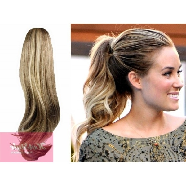 """Clip In Ponytail Wrap / Braid Hair Extension 24"""" Wavy – Mixed Blonde Inside High Top Ponytail Hairstyles With Wavy Extensions (View 18 of 25)"""