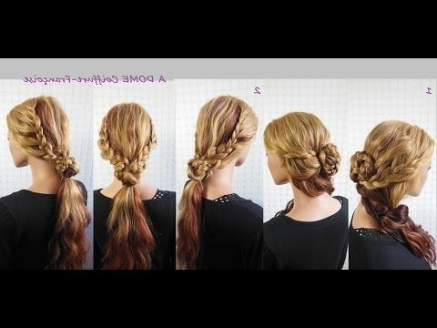 "Coiffure ""cascade De Tresses Queue De Cheval""/waterfall Braids With Regard To Ponytail Cascade Hairstyles (View 17 of 25)"