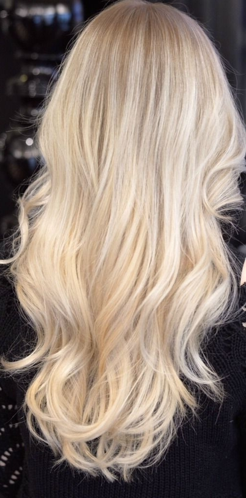 Cold Blonde | Beautiful Hair | Pinterest | Blondes, Perfect Blonde Within Creamy Blonde Waves With Bangs (View 12 of 25)