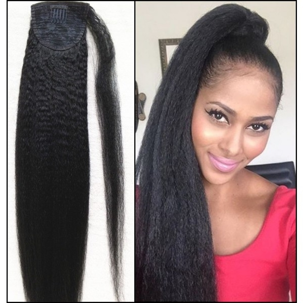 Combs In Human Hair Ponytail Extensions Wrap, Ponytail Hairstyle In Wrapped Up Ponytail Hairstyles (View 24 of 25)