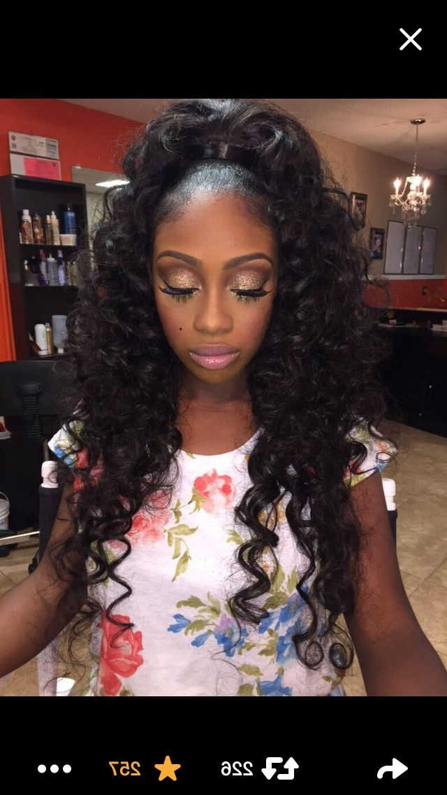 Coming To America | Prom | Pinterest | Hair Style, Ponytail And Makeup Inside High Curled Do Ponytail Hairstyles For Dark Hair (View 2 of 25)