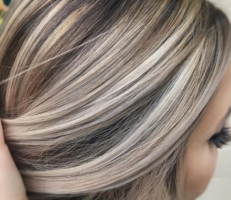 Cool Ash Blonde Against A Neutral Brown | Made The Cut | Pinterest In White Blonde Hairstyles For Brown Base (View 7 of 25)