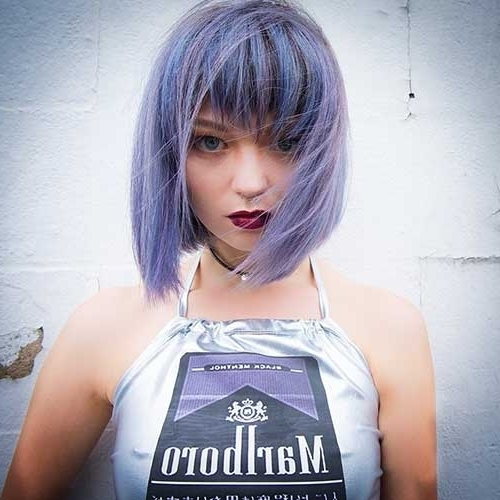 Coolest Short Hair Cut For Girls | Donalovehair In Recent Funky Blue Pixie Hairstyles With Layered Bangs (View 25 of 25)