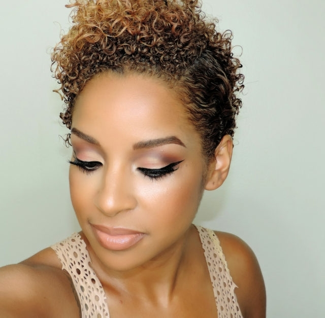 Coral Cut Crease And A Curly Pixie Side Part (Grow Out Style For With Current Short Choppy Side Parted Pixie Hairstyles (View 15 of 25)