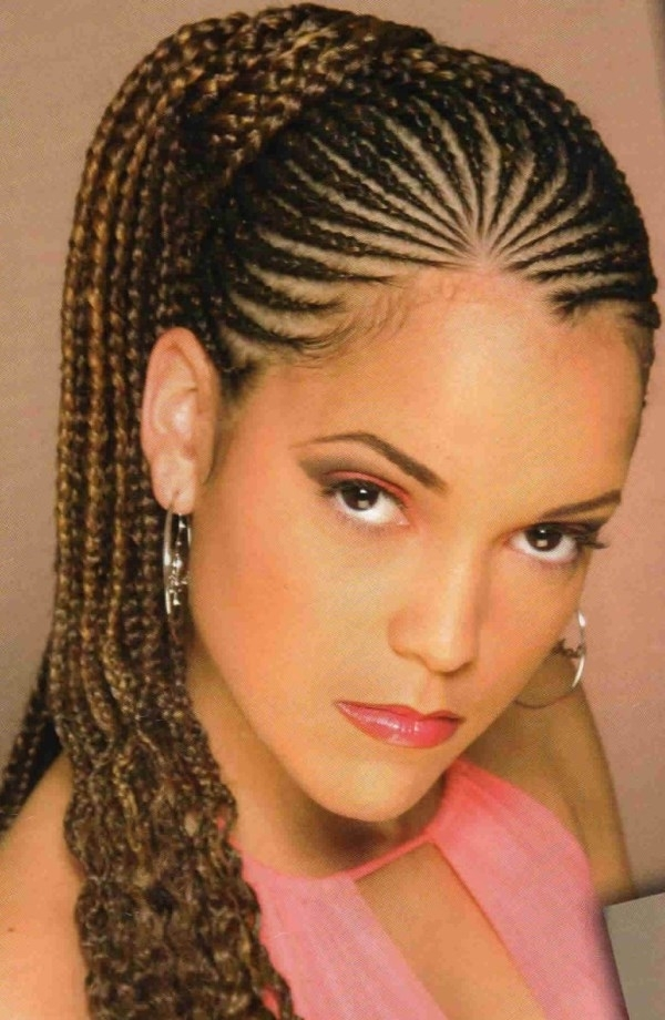 Cornrows Braided Hairstyles For Black Women – Outstanding Black Regarding Cornrows Hairstyles For Long Ponytail (View 22 of 25)
