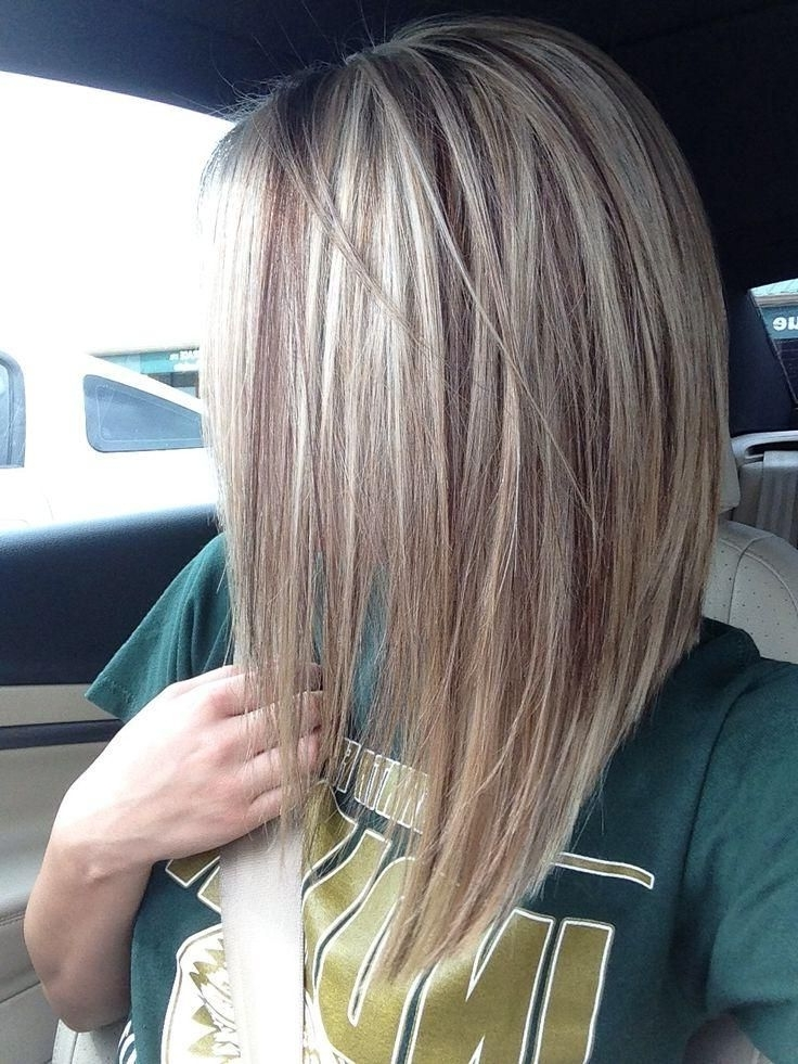 Corte De Cabelo | Cabello | Pinterest | Light Browns, Blondes And Brown Intended For Long Bob Blonde Hairstyles With Lowlights (View 3 of 25)