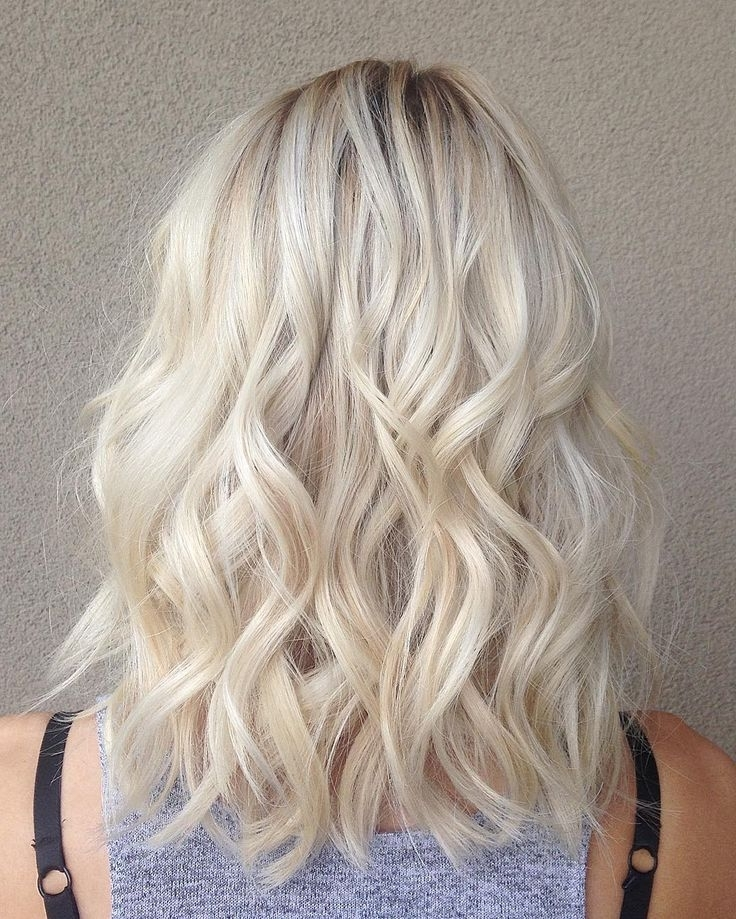 Creamy Blonde | Hairstyles | Pinterest | Creamy Blonde, Blondes And Pertaining To Creamy Blonde Waves With Bangs (View 3 of 25)