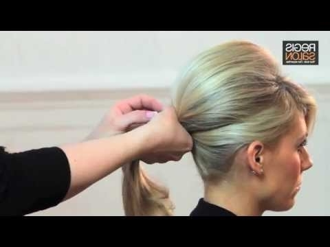 Create A Bardot Wedding Ponytail – Hair Tutorial Video – Youtube With Bouffant Ponytail Hairstyles For Long Hair (View 21 of 25)