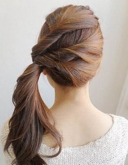 Creative Ideas – Diy Easy Twisted Side Ponytail Hairstyle For Twisted Side Ponytail Hairstyles (View 3 of 25)