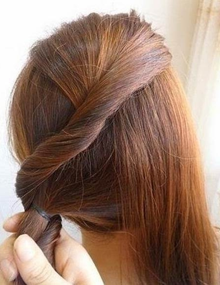 Creative Ideas – Diy Easy Twisted Side Ponytail Hairstyle Intended For Braided Headband And Twisted Side Pony Hairstyles (View 19 of 25)