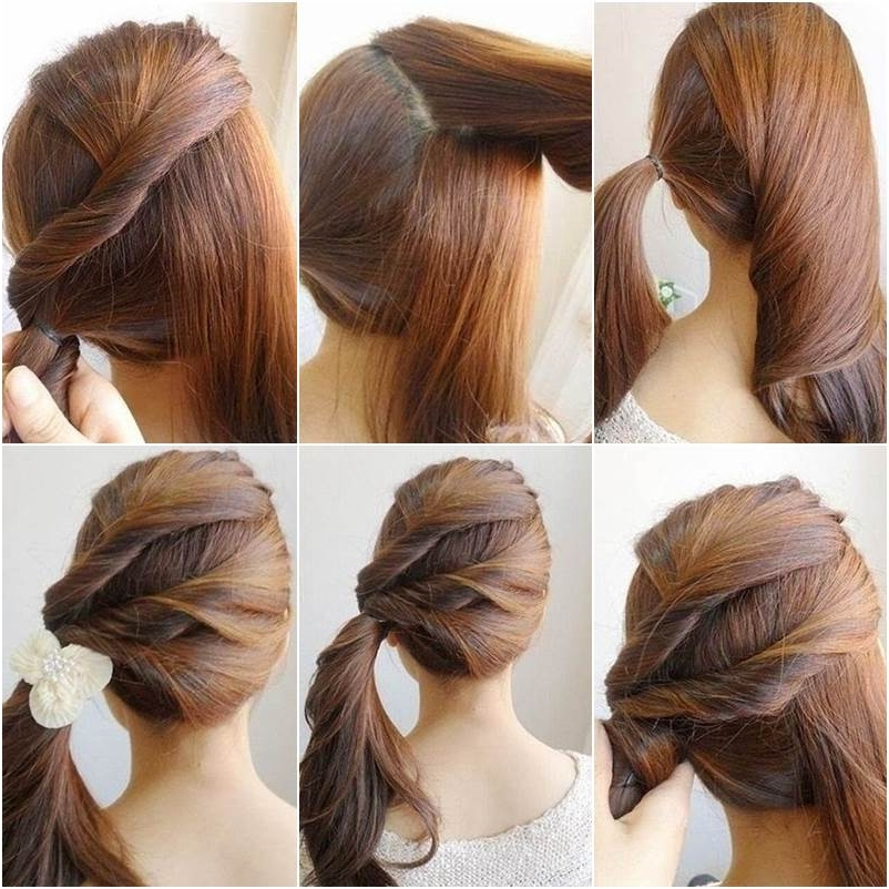 Creative Ideas – Diy Easy Twisted Side Ponytail Hairstyle Intended For Braided Headband And Twisted Side Pony Hairstyles (View 14 of 25)