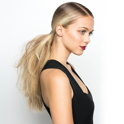 Crimped Hair Makes A Comeback With Ghd Contour   Rush Hair & Beauty In Crimped Pony Look Ponytail Hairstyles (View 11 of 25)