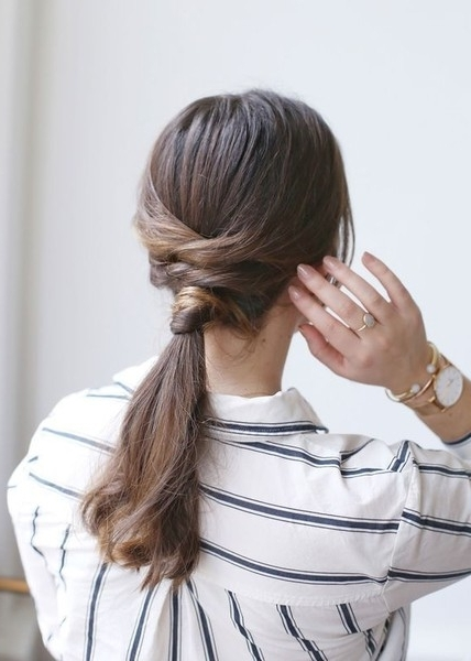 Criss Cross Low Ponytail – We Found The 21 Best Lazy Girl Hairstyles With The Criss Cross Ponytail Hairstyles (View 12 of 25)