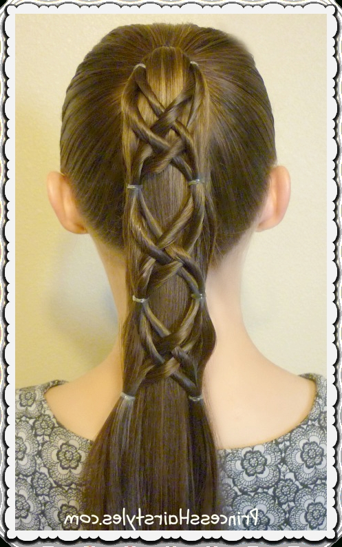 Criss Cross Woven Ponytail Hairstyle – Hairstyles For Girls Pertaining To Princess Tie Ponytail Hairstyles (View 2 of 25)