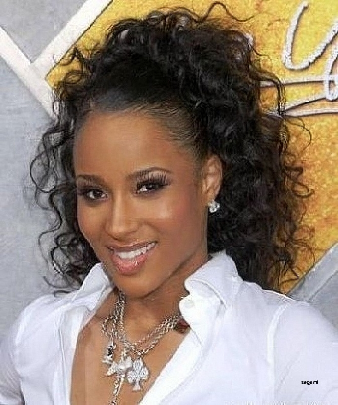 Curly Bump Hairstyles Lovely Ponytail Weave Hairstyles Curly Weave Regarding Ponytail Hairstyles With Bump (View 11 of 25)