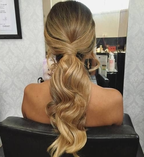 Curly Hairstyle Low Ponytail 35 Super Simple Messy Ponytail In Messy Low Ponytail Hairstyles (View 23 of 25)