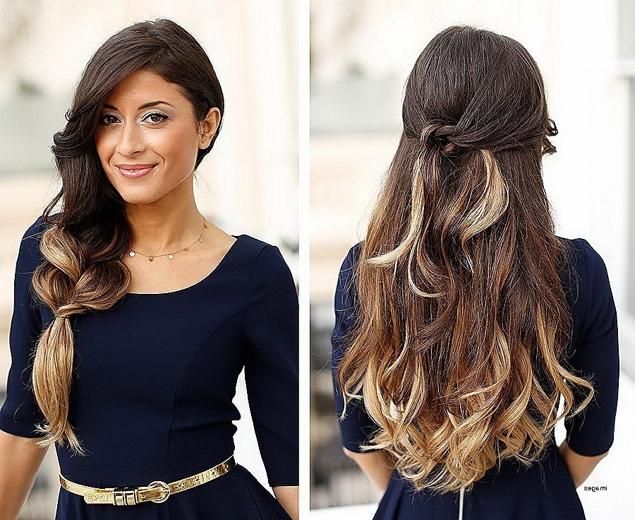 Curly Hairstyles: Best Of Half Ponytail Hairstyles For Curly Ha Pertaining To Half Up Curly Look Pony Hairstyles (View 21 of 25)