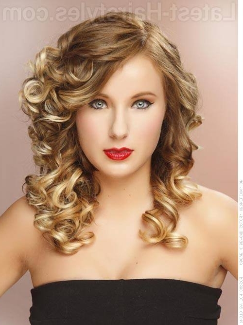 Curly Hairstyles For Prom Throughout Huge Hair Wrap And Long Curls Hairstyles (View 13 of 25)