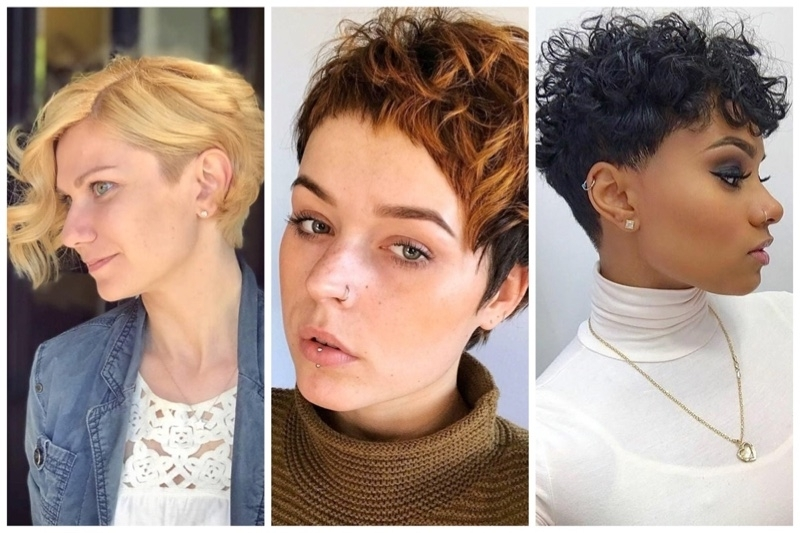 Curly Pixie Cut Styles For Girls Intended For Newest Finely Chopped Buttery Blonde Pixie Hairstyles (View 17 of 25)