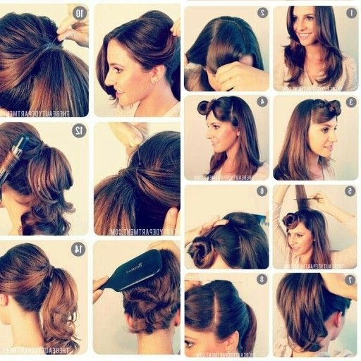 Curly Ponytail Hairstyles Lovely 1950 S Vintage Ponytail Beauty For Vintage Curls Ponytail Hairstyles (View 17 of 25)