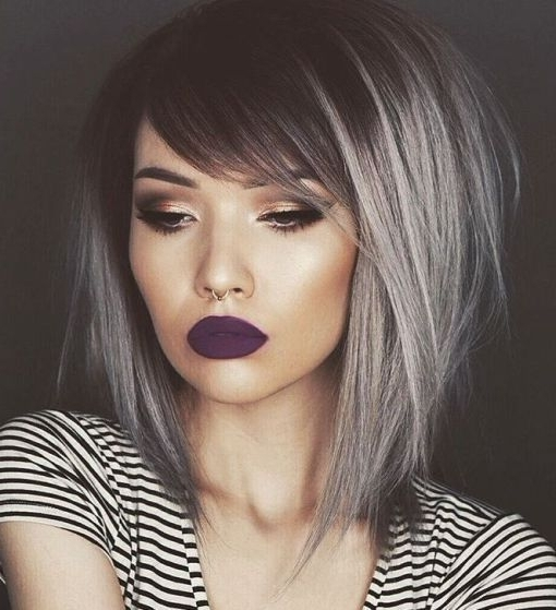 Cute And Creative Emo Hairstyles For Girls | Emo Hair Ideas Within Best And Newest Side Parted Silver Pixie Bob Hairstyles (View 15 of 25)