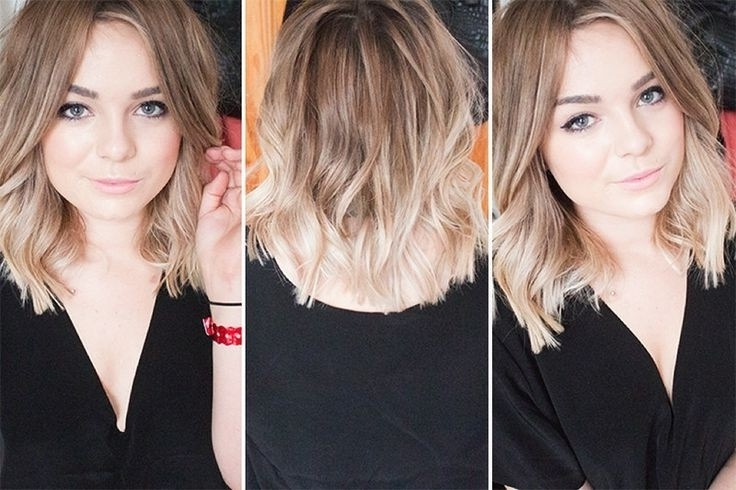 Cute Blonde Ombr Hairstyles Blunt Layered Haircut For Medium Hair Inside Tousled Shoulder Length Ombre Blonde Hairstyles (View 22 of 25)