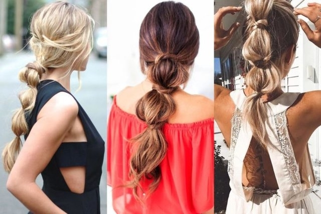 Cute, Casual And Sexy Friday Hairstyles To Look Prettier – Stylish Walks Within Sleek Bubble Ponytail Hairstyles (View 12 of 25)