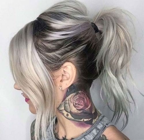 Cute Messy Ponytail Hairstyles   Love Ambie With Loose Messy Ponytail Hairstyles For Dyed Hair (View 18 of 25)