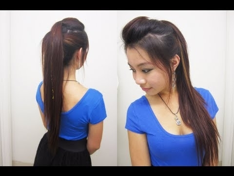 Cute Ponytail Hairstyles For Medium Long Hair L Chic Edgy Ponytail L Throughout Punky Ponytail Hairstyles (View 10 of 25)