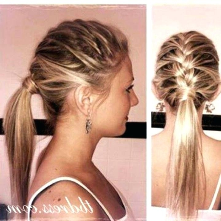 Cute Ponytail Hairstyles French Braid Ponytail Cute High Ponytail For Trendy Ponytail Hairstyles With French Plait (View 18 of 25)