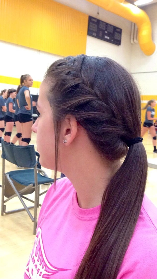 Cute Volleyball Hair … | Rapunzel Rapunzel Let Down Your Hair | Pinte… With Regard To Braided Millennial Pink Pony Hairstyles (View 9 of 25)