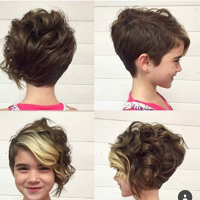 Cutest Curly Pixie Hairstyle Throughout Most Up To Date Long Curly Pixie Hairstyles (View 12 of 25)