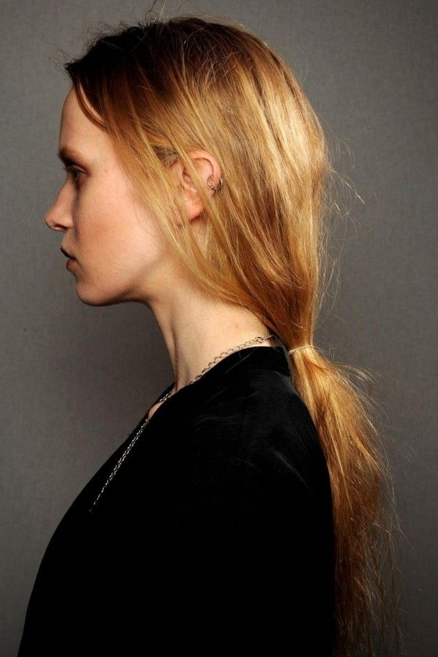 Cutest Messy Ponytail Hairstyles – New Hairstyles 2017 For Long Intended For Messy Low Ponytail Hairstyles (View 12 of 25)