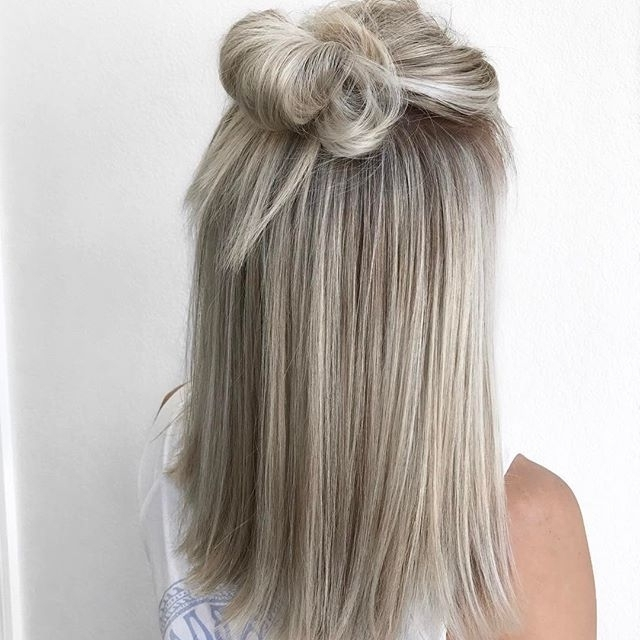 ???z??????g???? | ???? ? | Pinterest | Blondes, Ash Blonde And With Ash Blonde Half Up Hairstyles (View 12 of 25)