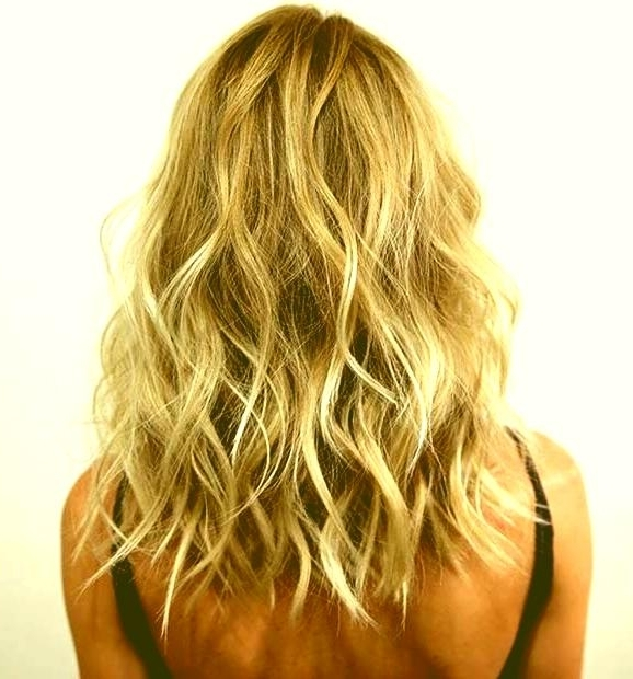 Dark Blonde Long Bob Hairstyles Curly Lob Light Blonde Lowlights Inside Long Bob Blonde Hairstyles With Lowlights (View 11 of 25)