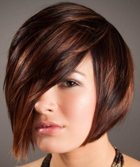 Dark Brown Caramel Highlights Pixie Highlights For Short Hair Regarding Newest Reddish Brown Layered Pixie Bob Hairstyles (View 20 of 25)