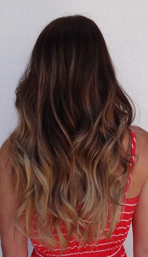 Dark Brown With Subtle Blonde Ombre | Hair | Pinterest | Blonde Throughout Subtle Blonde Ombre (Gallery 5 of 25)