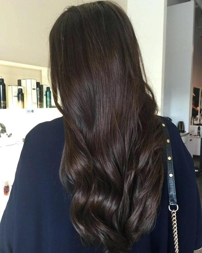 Dark Chocolate Hair Rosewood And Dark Chocolate Dark Chocolate Hair Pertaining To Rosewood Blonde Waves Hairstyles (View 15 of 25)