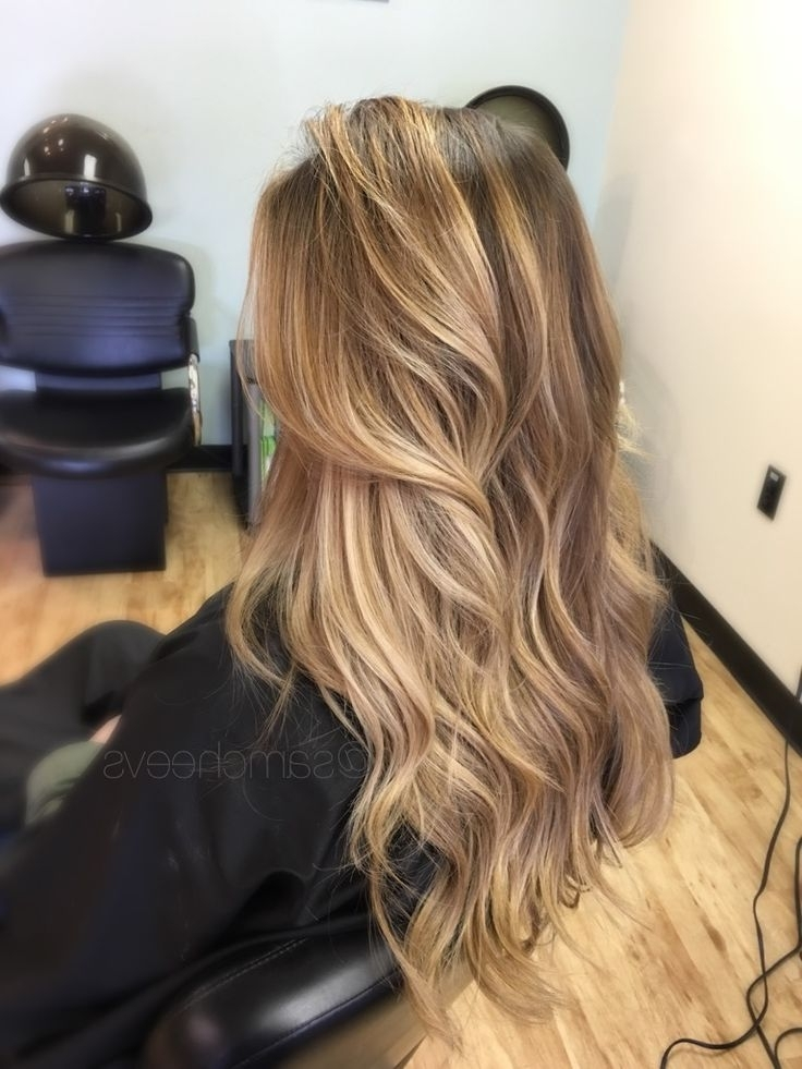 Dark Roots With Sun Kissed Honey Platinum Warm Pearl Blonde Balayage Intended For Dark Roots Blonde Hairstyles With Honey Highlights (Gallery 1 of 25)