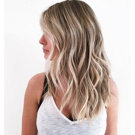Dark Sandalwood Blonde Hair With Pale Blonde Balayage | Hair With Regard To Pale Blonde Balayage Hairstyles (Gallery 2 of 25)