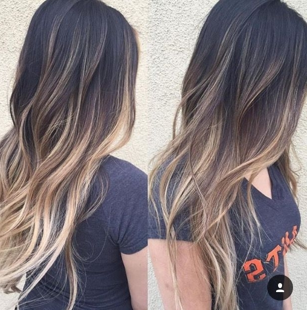 Dark To Light Balayage Ombre   Hair   Pinterest   Balayage, Ombre In Dark And Light Contrasting Blonde Lob Hairstyles (View 18 of 25)