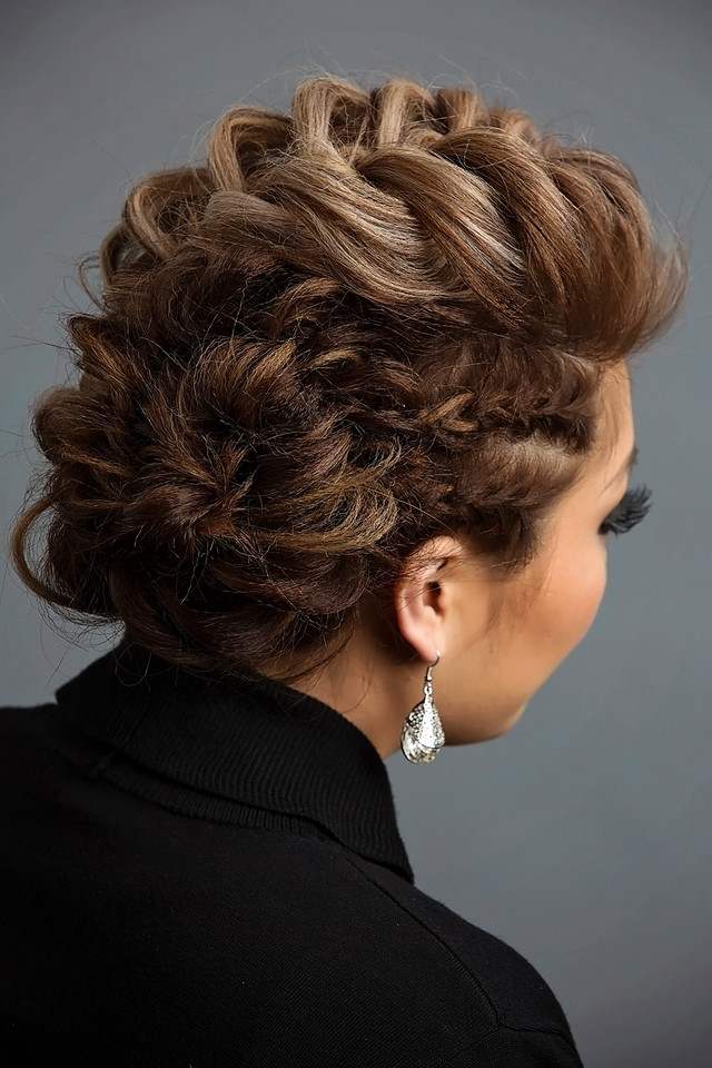 Day To Night Hairstyle | Mohawk Braid Into Fishtail Bun Intended For Undone Fishtail Mohawk Hairstyles (Gallery 17 of 25)