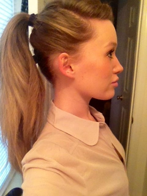 Deep Side Part And High Ponytail | H A I R ?. | Pinterest | High Throughout High Ponytail Hairstyles With Long Golden Coils (Gallery 3 of 25)