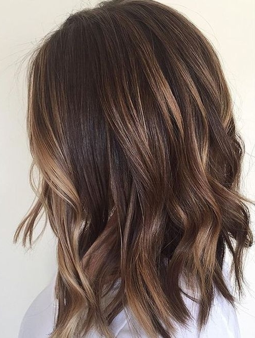 Delicate Balayage For Short Length Hairstyles 2017   Beauty//hair With Dark And Light Contrasting Blonde Lob Hairstyles (View 9 of 25)